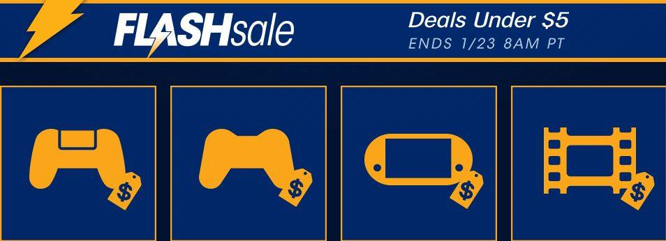 PlayStation Flash Sale Under $5
