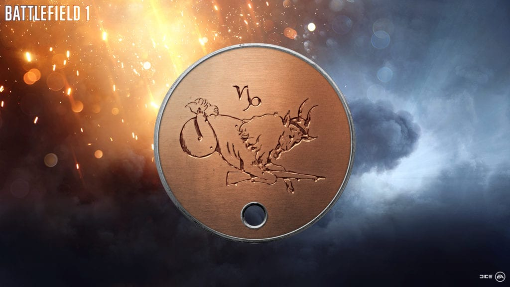Battlefield 1: Capricorn Dog Tag