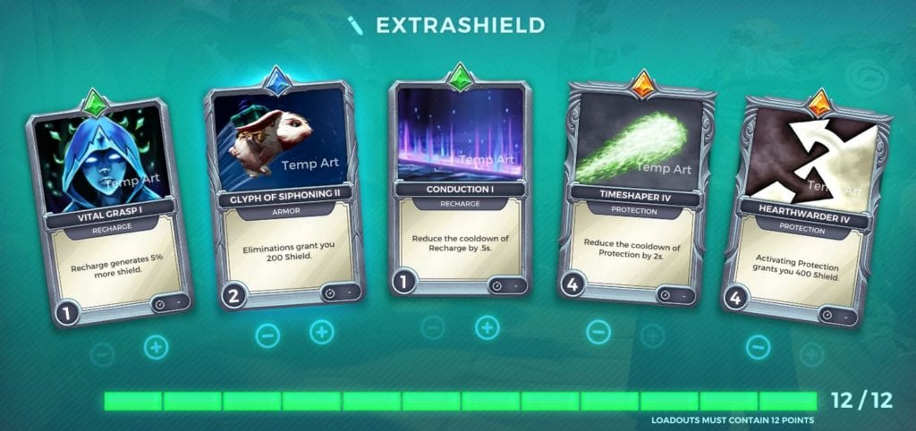 Torvald Build Guide Cards, EXTRASHIELD