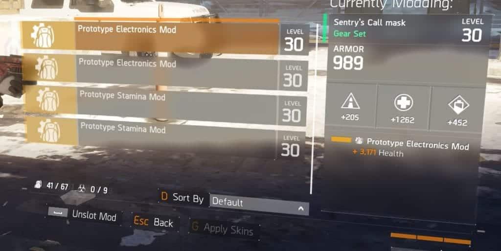 Sentry's Call Prototype Gear Mods