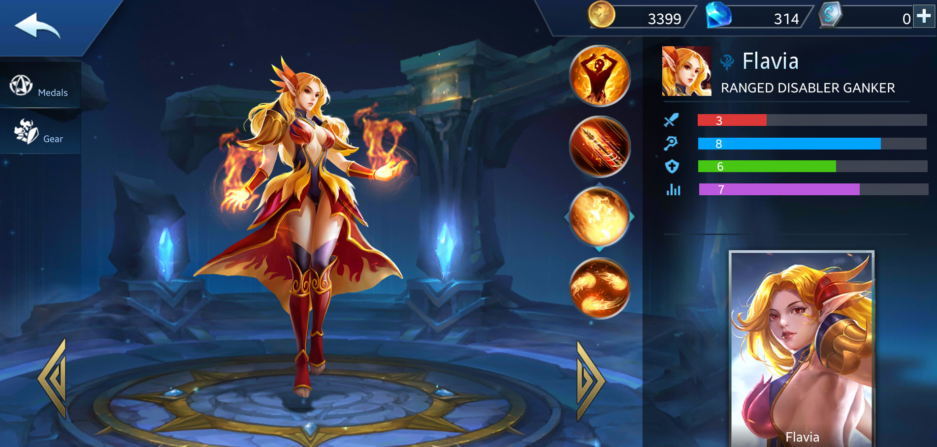 Photo of Flavia Build Guide In Heroes Evolved Mobile Game
