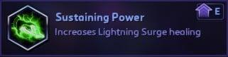 Sustaining Power