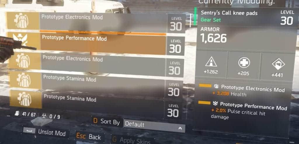 Sentry's Call Build Performance Mods