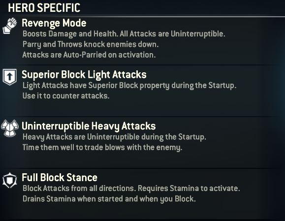 warlords hero specific moveset