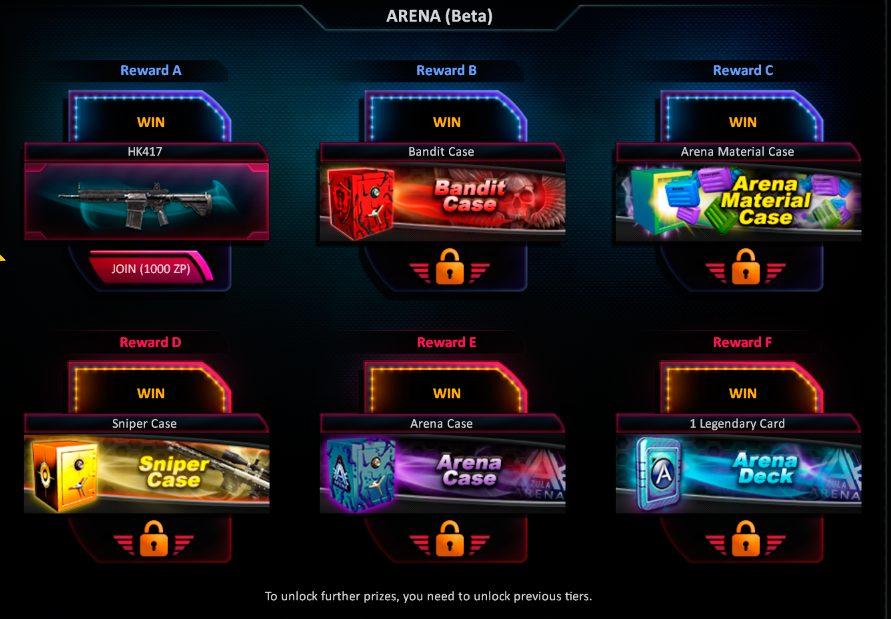Zula Europe Arena Prizes