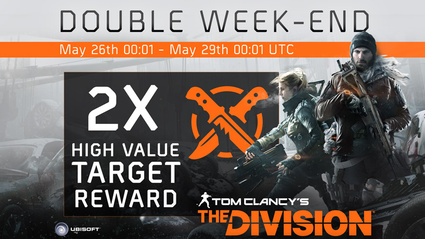 The Division Double HVT Rewards Weekend