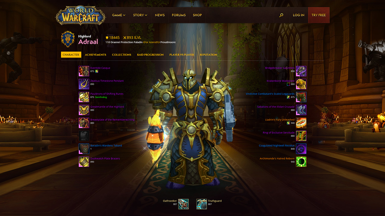 Photo of World of Warcraft: New Profile Page for Every Player