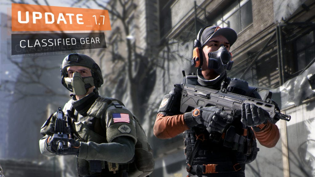 The Division 1.7 Classified Gear