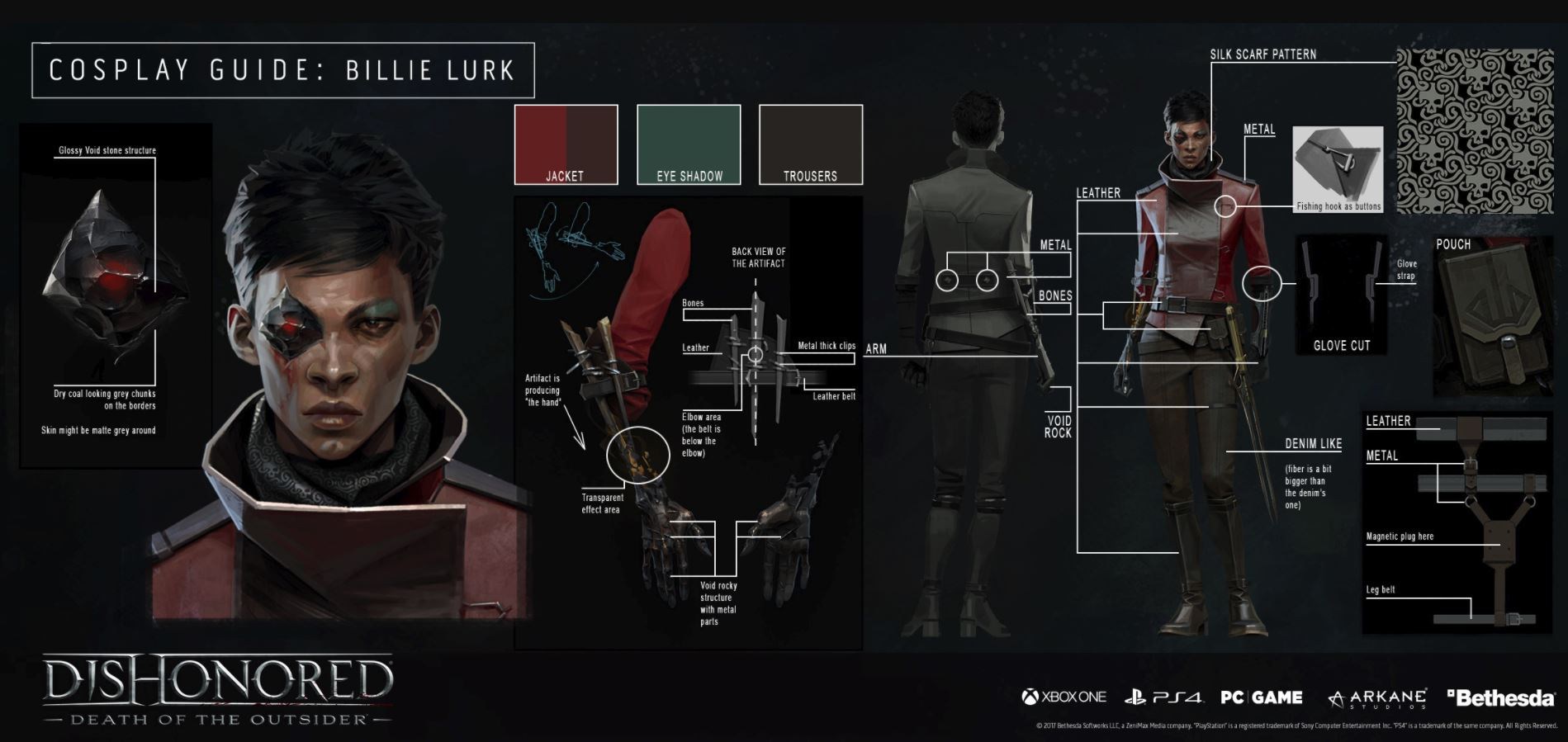 billie lurk look dishonored death of the outsider