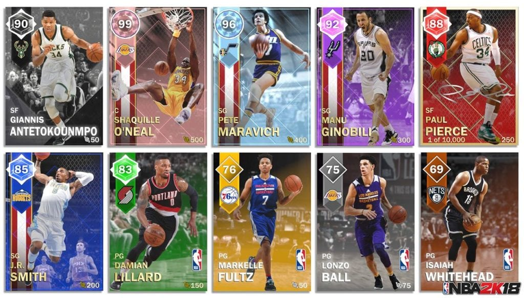 Nba 2k18 MyTeam Cards