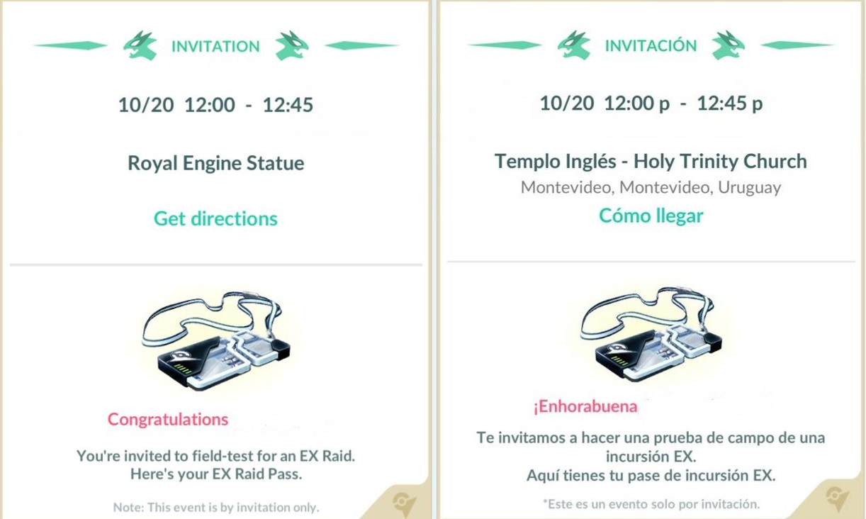 pokemon go ex raid invitations