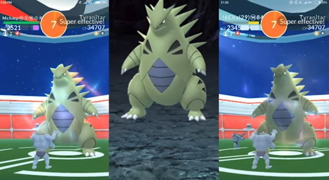 Photo of Pokemon Go: 2 Man Squad Defeated Tyranitar Using an Army of Machamps