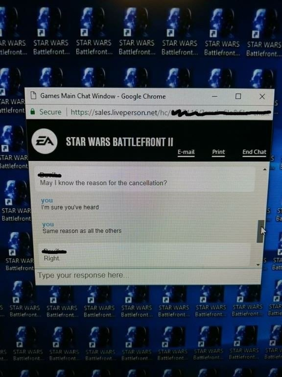 ea 39 s customer service knows the reason for the recent sc battlefront ii order cancellations fgr. Black Bedroom Furniture Sets. Home Design Ideas