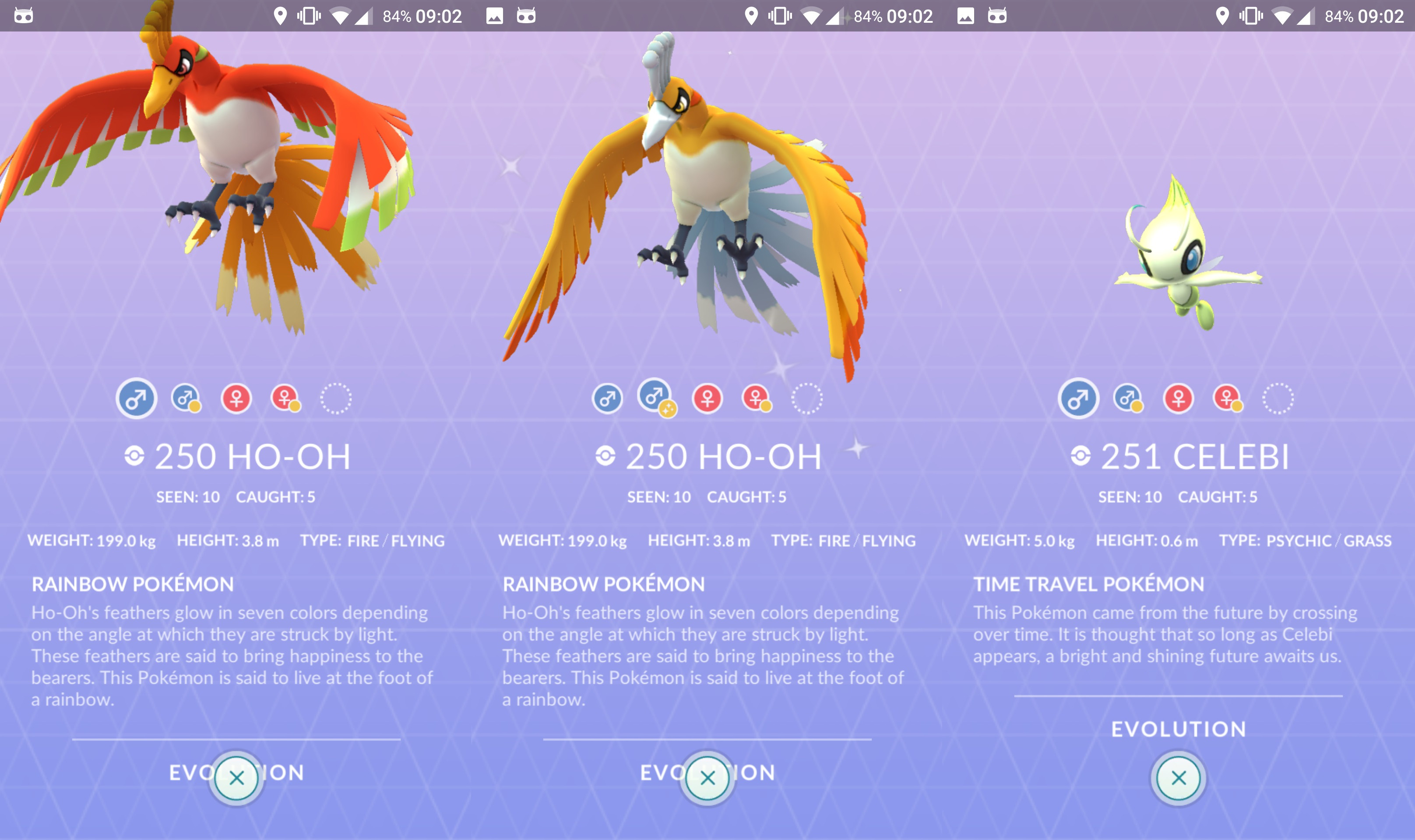 Photo of Ho-Oh and Celebi's 3D Assets are Added in Pokemon Go's Data