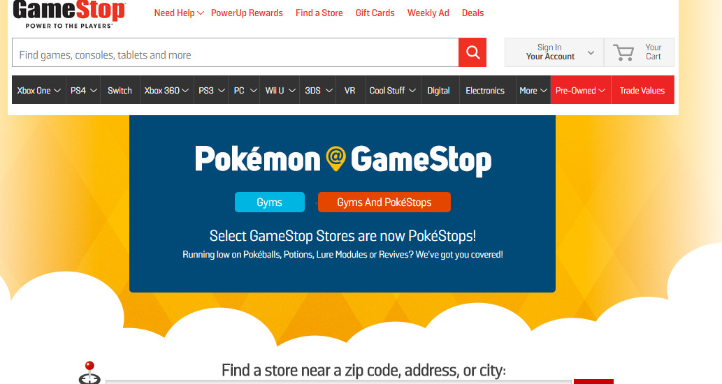 pokemon go gyms pokestops gamestop