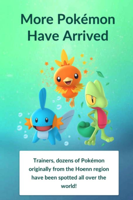 pokemon go gen 3 weather system now live