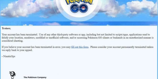 pokemon go permanent ban