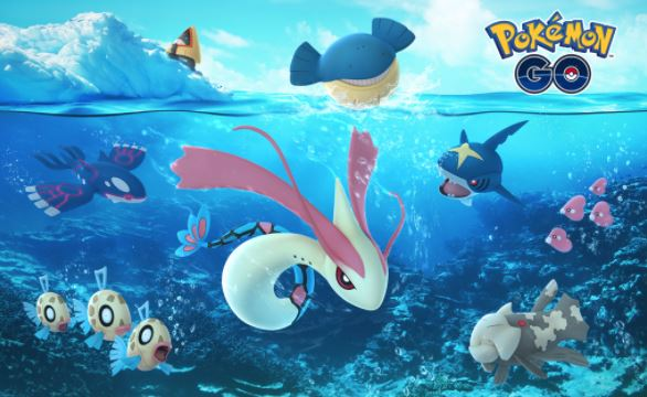 pokemon go christmas event 2017 and 20 new water ice type gen 3