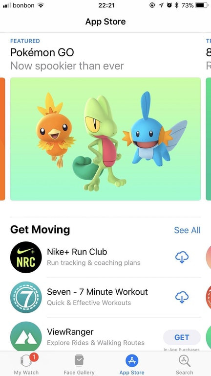 pokemon go gen 3 apple watch store