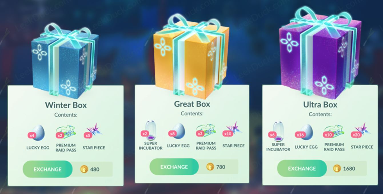 Pokemon Go Christmas Boxes.Special Winter Great And Ultra Box Are Now Live In Pokemon