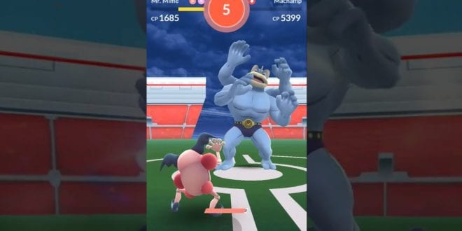 mr mime solo machamp pokemon go