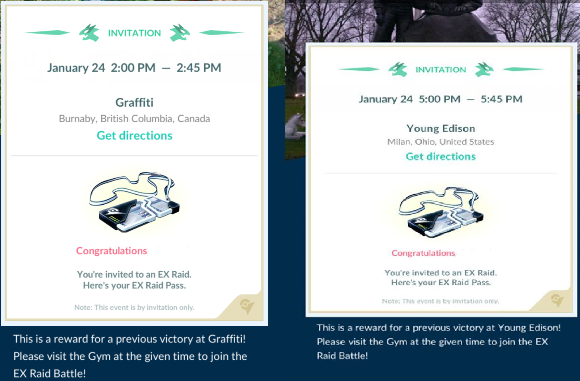 Photo of New Wave of EX Raid Invites Goes Live in Pokemon Go, Set for January 24