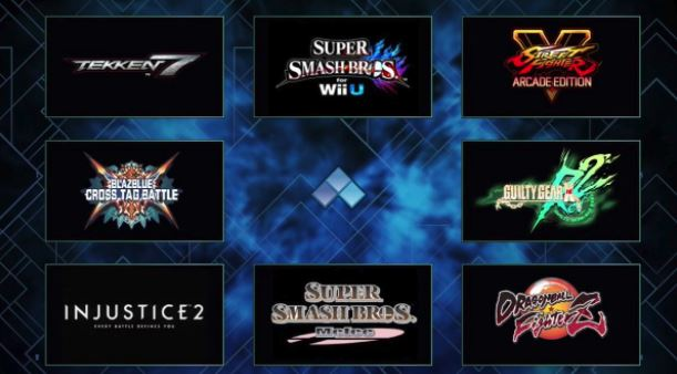 evo 2018 tournament final list games