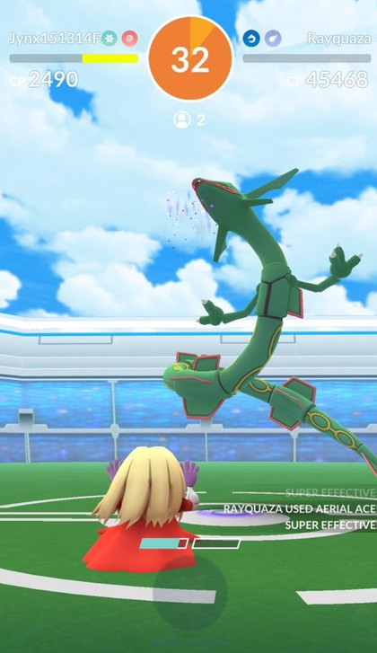 world first duo rayquaza