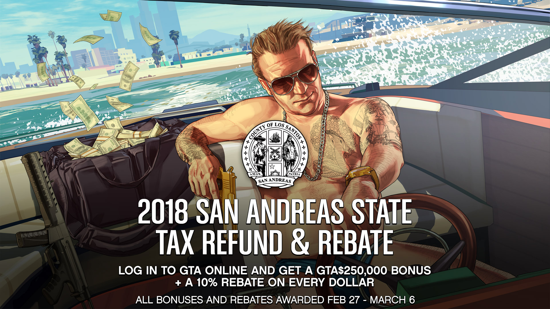 GTA Online ensures you'll have some cash to burn this tax season