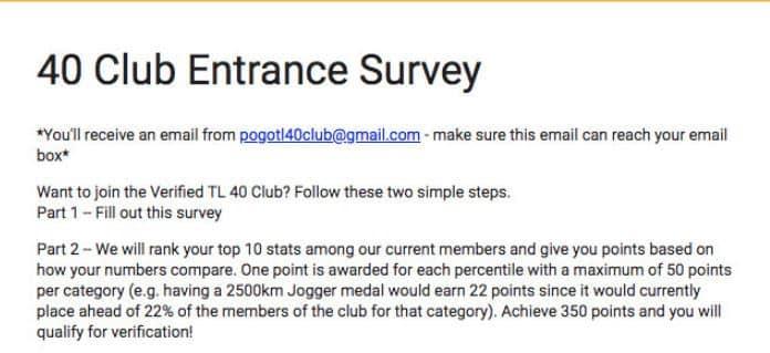 level 40 survey