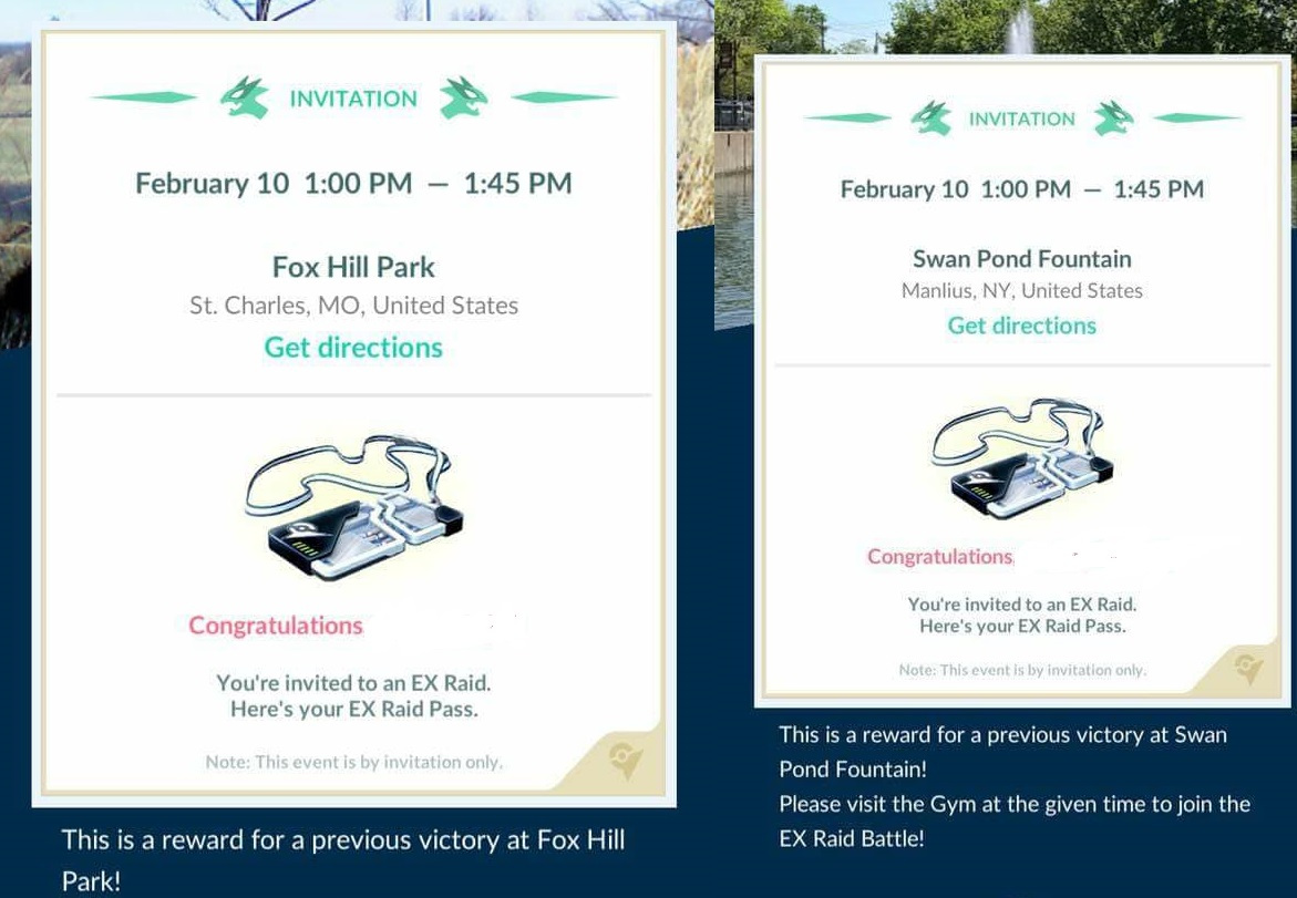 Photo of New Wave of EX Raid Invites Just Gone Out, This time for February 10