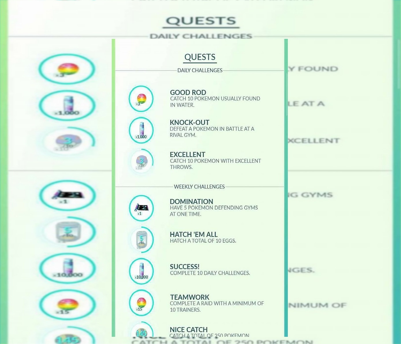 pokemon go daily weekly quests