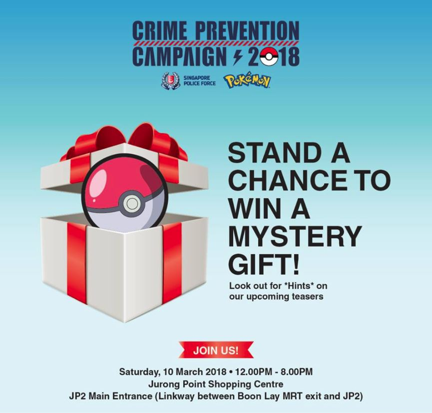 Photo of Singapore Police and Pokemon Co. Upcoming Event to Promote Crime Prevention