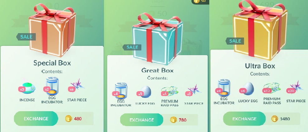boxes sale pokemon go february