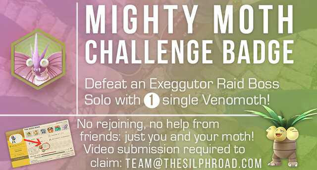 Photo of The Silph Road Venomoth Challenge, Earn a Rare Mighty Badge