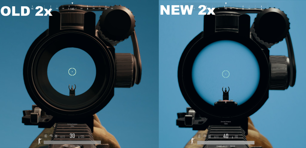 Photo of Take a look at this comparison of the old 2x vs the new 2x scope in PUBG
