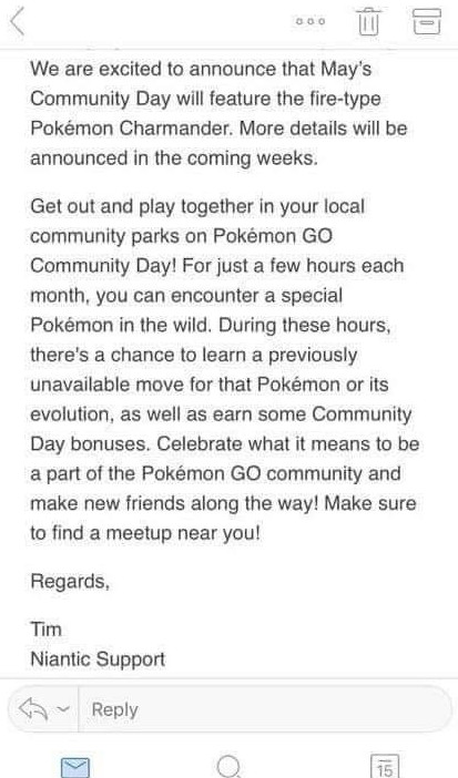 charmander community day may