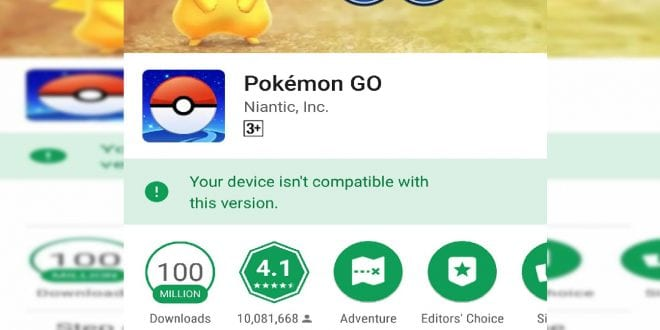 pokemon go can't update
