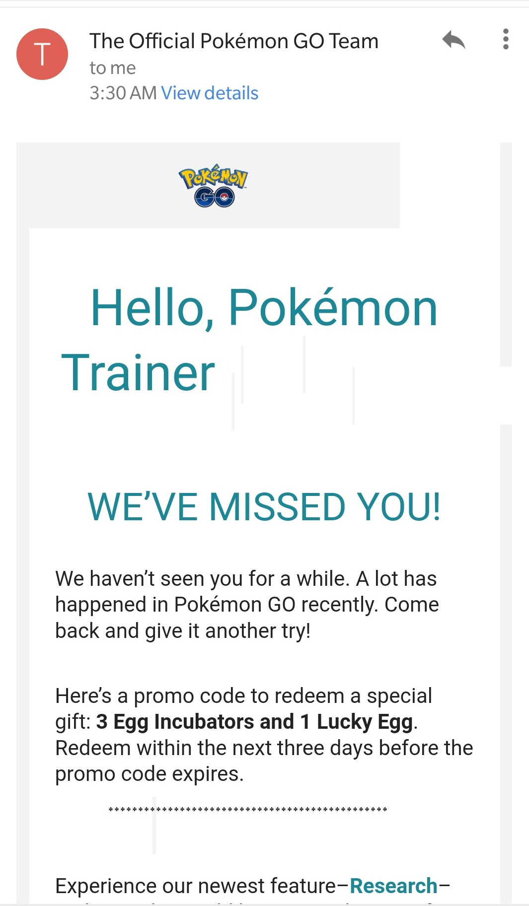 Claim your Promo Code in Pokemon Go Now and Get Free Items