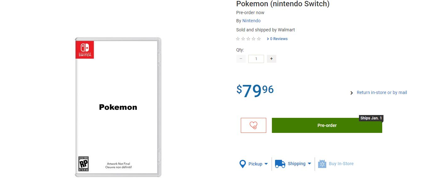 Photo of Walmart Canada leaks Pokemon Switch Online video game