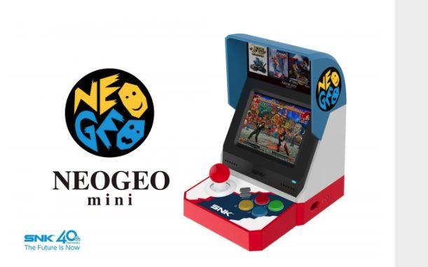 Neo Geo Mini is a tiny arcade machine with 40 games