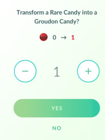 pokemon go mass rare candy 0.103.2