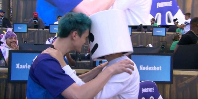 the most popular twitch streamer ninja prove his fortnite skills at epic s e3 2018 pro am event - pokemon streamer fortnite