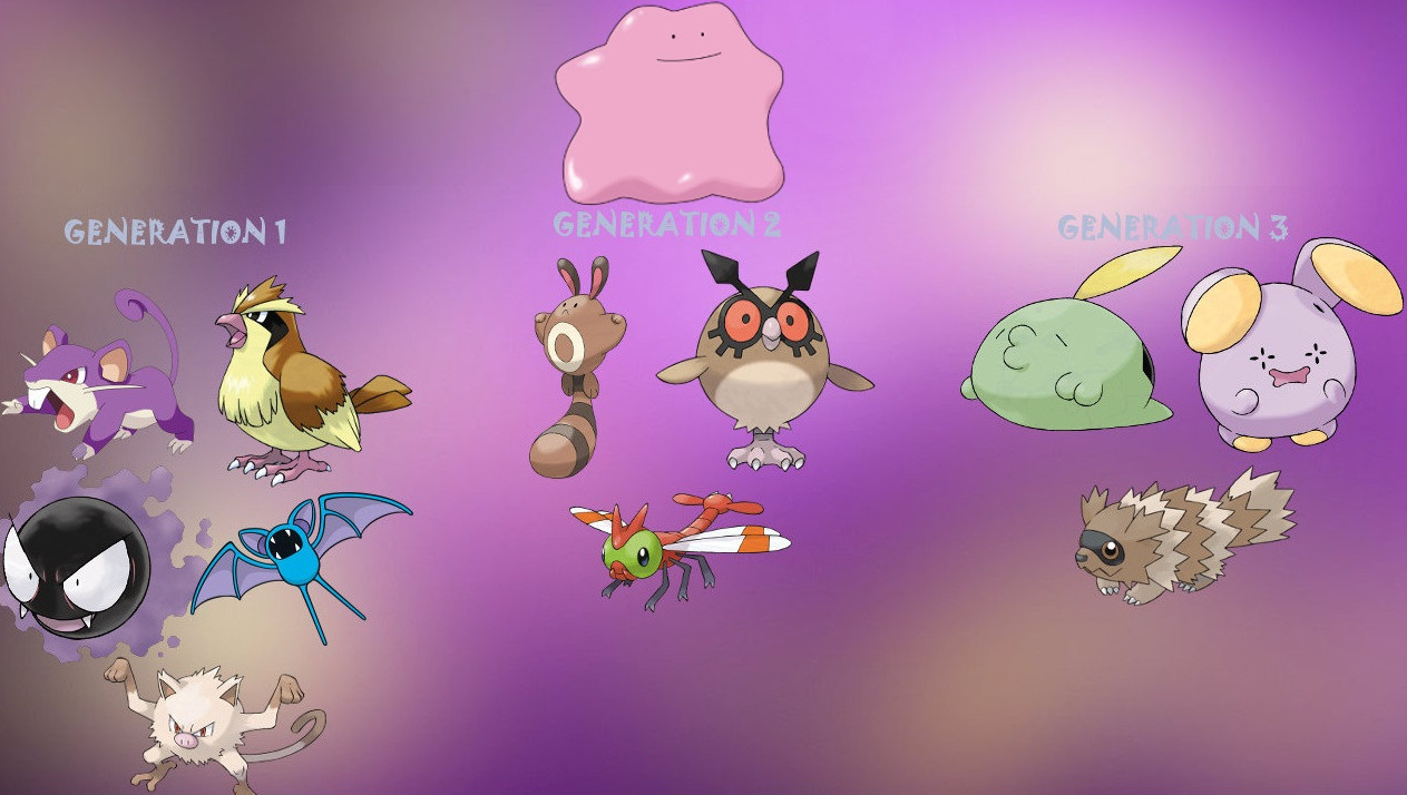 which pokemon can be ditto