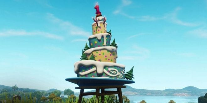 Fortnite Dance In Front Of Different Birthday Cakes Challenge Location