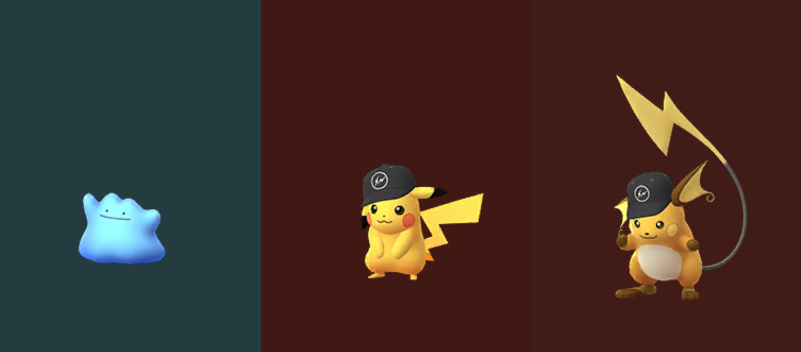 pokemon go shiny ditto new pikachu hat