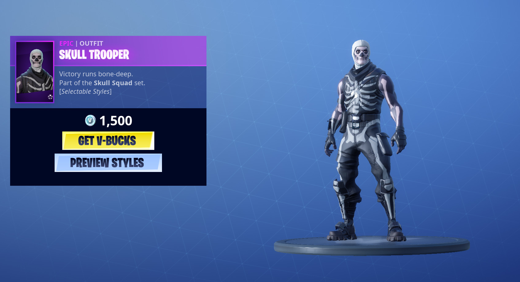Photo of The old school Skull Trooper Skin is back in the Fortnite Item Shop