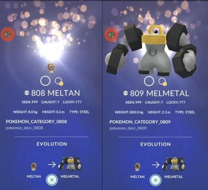 pokemon go meltan melmetal stats