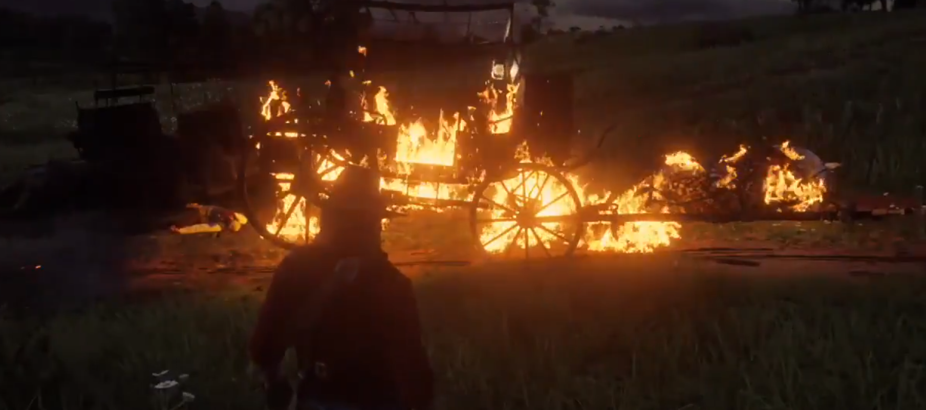 Photo of The Glitchy Hellspot Road in Red Dead Redemption 2