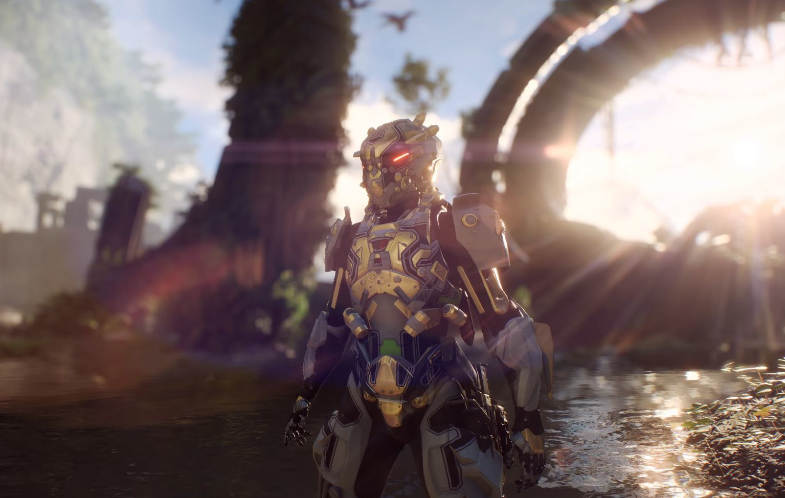 Photo of Anthem has a main social area in which players can show-off